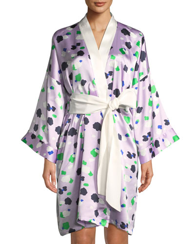 Mimi Maya Dot-Print Short Robe