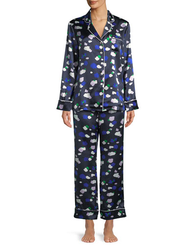 Lila Maiko Dot-Print Classic Pajama Set