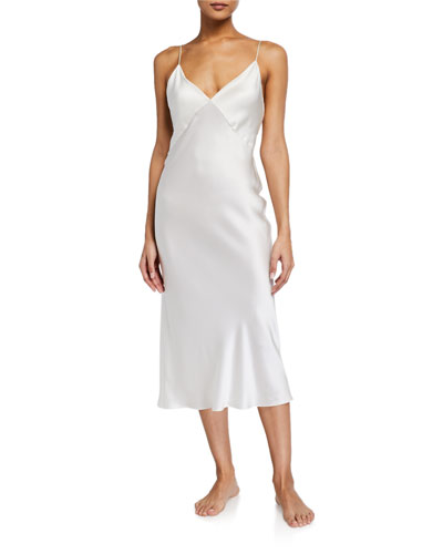 Issa Sleeveless Silk Nightgown