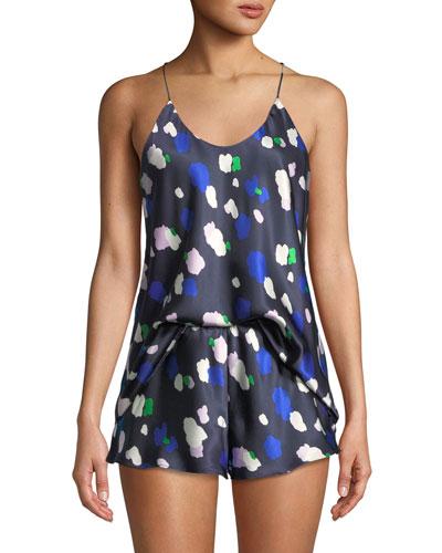 Bella Maiko Dot-Print Short Pajama Set