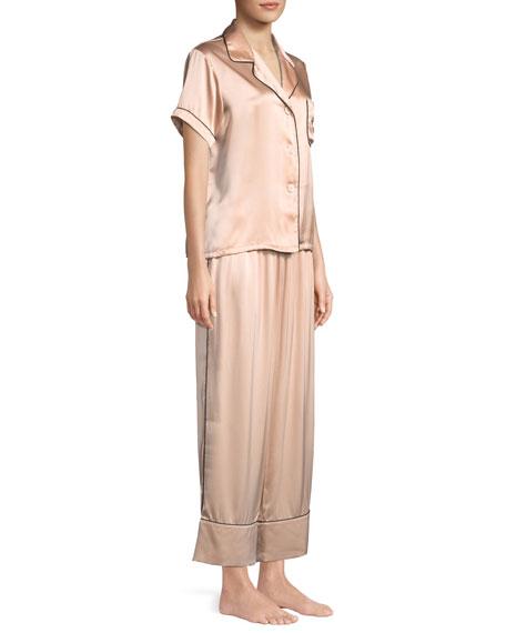 Melissa Short-Sleeve Silk Pajama Set