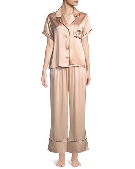 Morgan Lane Melissa Short-Sleeve Silk Pajama Set