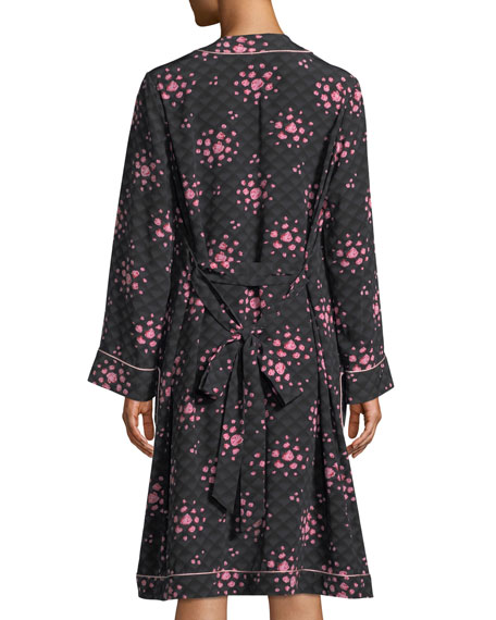 Morgan Lane Ophelia Tea Rose Silk Robe