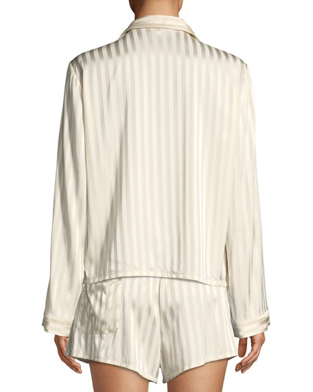 Ruthie Marle-Striped Pajama Top