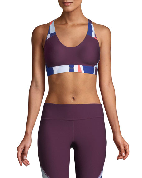 Under Armour Balance Printed Scoop-Neck Sports Bra