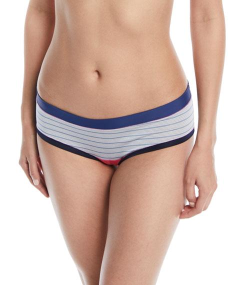 Paloma Striped-Print Bikini Briefs