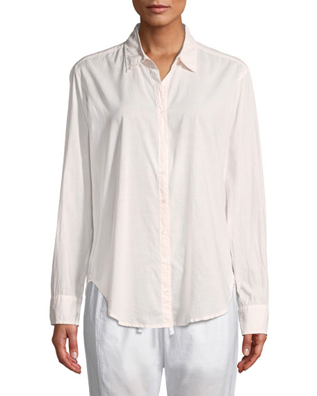 Beau Cotton Poplin Lounge Shirt