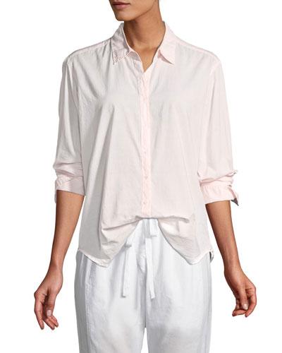 Beau Cotton Poplin Lounge Shirt