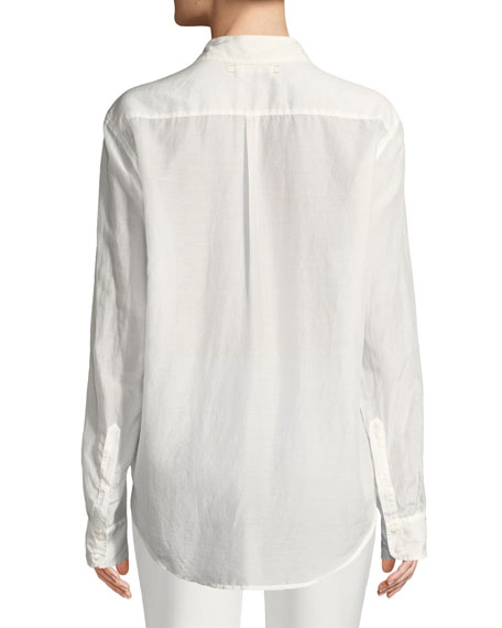 Beau Cotton/Silk Lounge Shirt