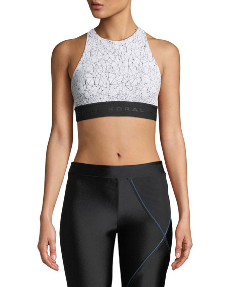 Koral Activewear Molecular Del Ray Printed T-Back Sports