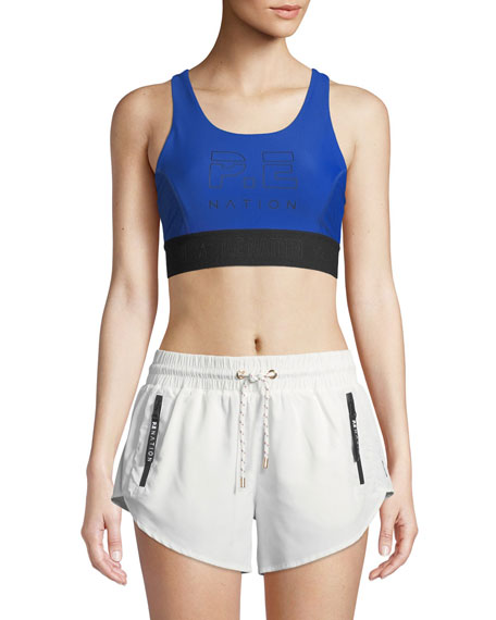 PE Nation Groundstroke Crop Sports Bra