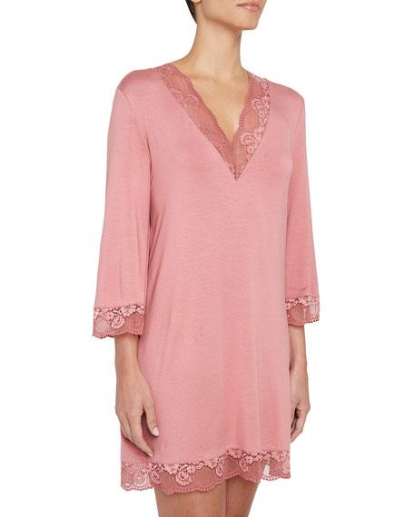 Noor Lace-Trim Sleepshirt
