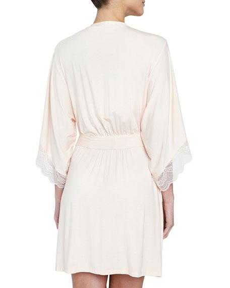 Esperanza Lace-Trim Kimono Robe