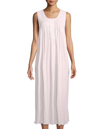 Dandelion Sleeveless Long Pima Cotton Nightgown