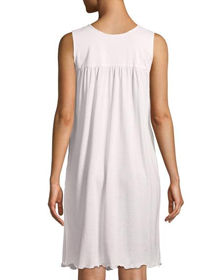 Dandelion Sleeveless Short Pima Cotton Nightgown