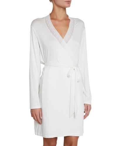 Amanda Romantics Lace-Trim Robe