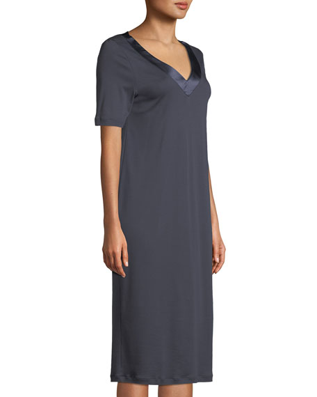 Lavender Short-Sleeve Nightgown