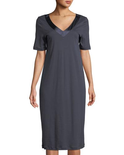Lavender Short-Sleeve Nightgown