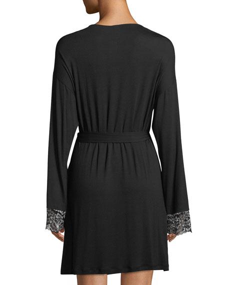 Pret-a-Porter Lace-Trim Short Robe