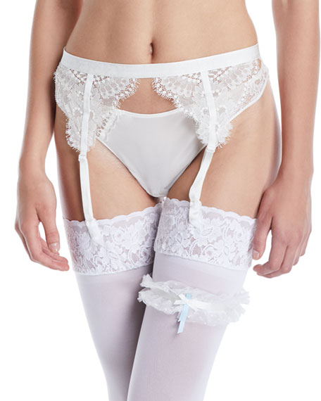 MAISON LEJABY Oui Lejaby Lace Garter Belt in Cream
