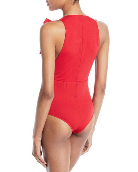 Paolla Sleeveless Bow Bodysuit