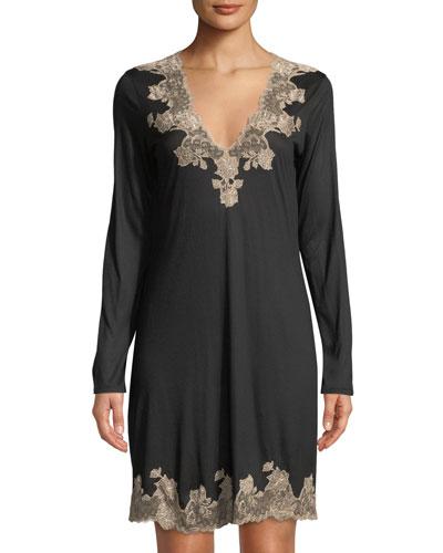Charlize Lace-Trim Sleep Shirt