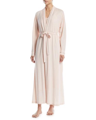 Kiera Long Organic Cotton Jersey Robe