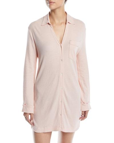 April Button-Front Sleepshirt