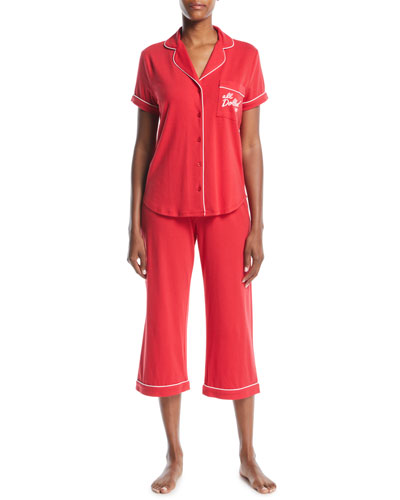 all dolled up cropped pajama set