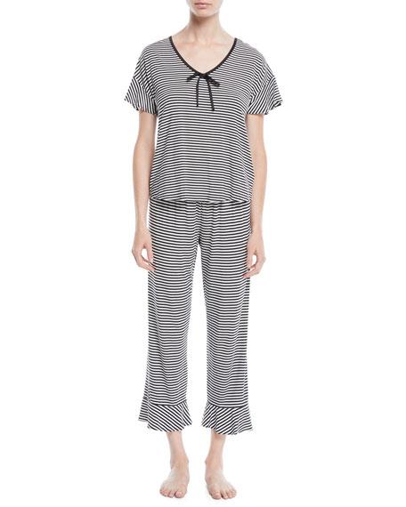 kate spade new york spring stripe cropped pajama