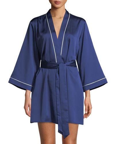 cat nap charmeuse short robe