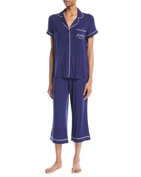 kate spade new york goodnight cropped pajama set