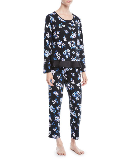 kate spade new york floral print long pajama