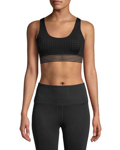 Breath In Strappy Mesh Sports Bra