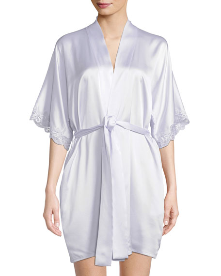Christine Lingerie Bijoux Short Silk Robe