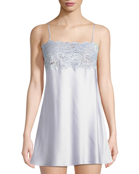 Christine Lingerie Lace-Trim Top Chemise