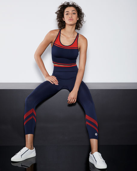 Seamless Contrast Cami Sports Bra