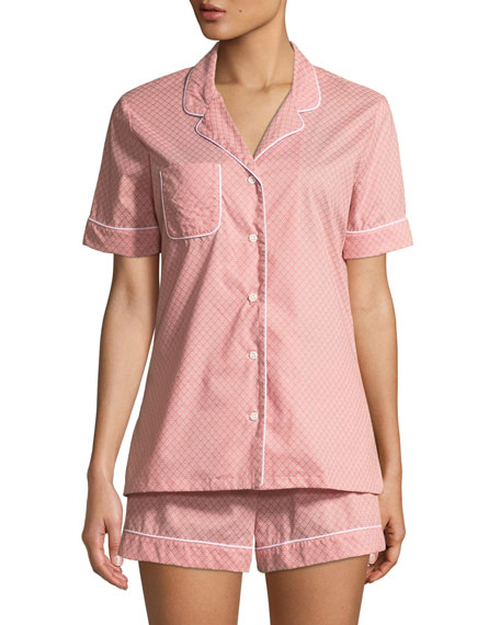 Derek Rose Nelson Cotton Shortie Pajama Set