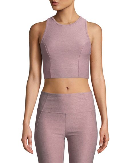 Agnes Performance Crop in Medium Pink