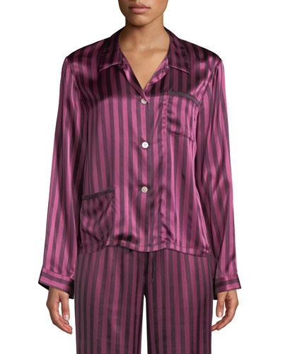 Ruthie Plumette Striped Pajama Top