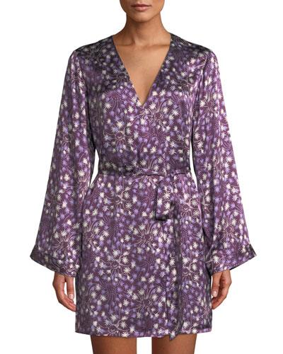 Langley Dandelion Silk Short Robe
