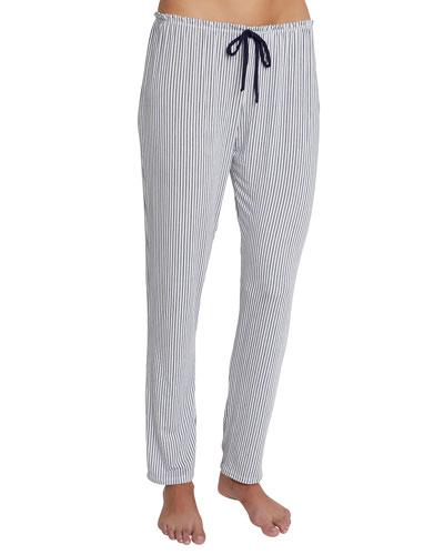 Nordic Stripes Slim Drawstring Lounge Pants