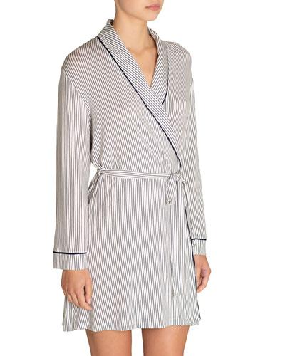 Nordic Striped Tuxedo Robe