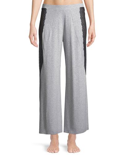 Ferrara Lace-Trimmed Pajama Pants