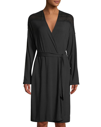 Lunna Lace-Trimmed Short Robe