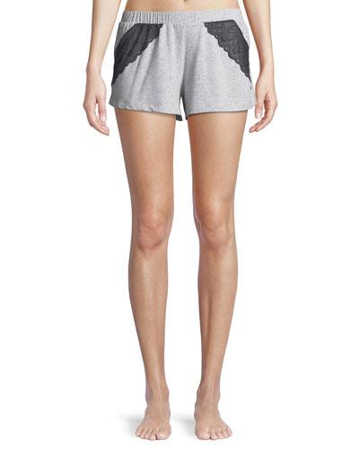 Ferrara Lace-Trimmed Pajama Shorts