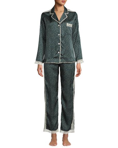 Ines Polka Dot Classic Pajama Set