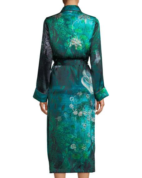Bianca Forest Silk Long Robe