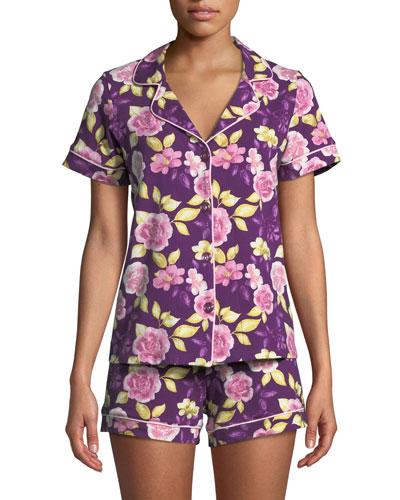 Garden of Romance Knit Shortie Pajama Set