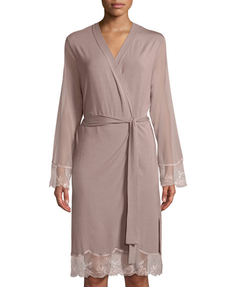 Lise Charmel Frisson Vegetal Lace-Trim Robe and Matching